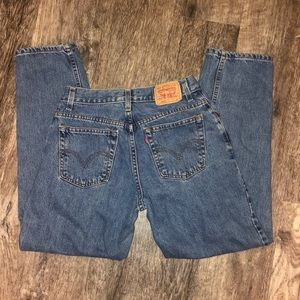 Levi's high waisted mom jeans